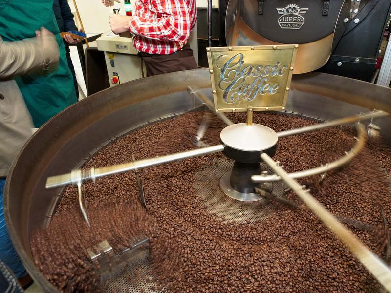 Kaffeverkostung Classic Caffee - fertige Röstung