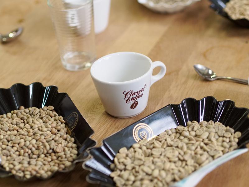 Kaffeverkostung Classic Caffee - roher Kaffee